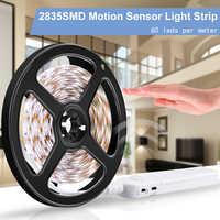 PIR 5V LED Cabinet Light Motion Sensor Led Strip Lamp 2835SMD Flexiable LED Night Light Under Bed Lamp Closet Wardrobe Stairs