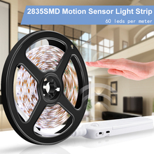 купить PIR 5V LED Cabinet Light Motion Sensor Led Strip Lamp 2835SMD Flexiable LED Night Light Under Bed Lamp Closet Wardrobe Stairs дешево