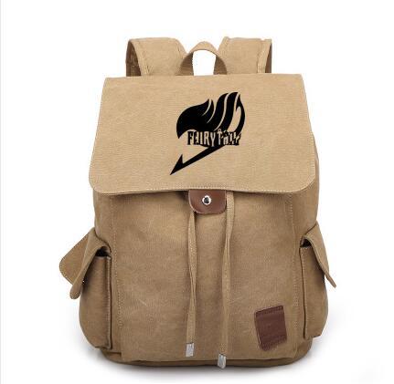 Nouvelle queue de fée toile sac à dos Cosplay Natsu Anime sacs d'école sac à dos sac de voyage