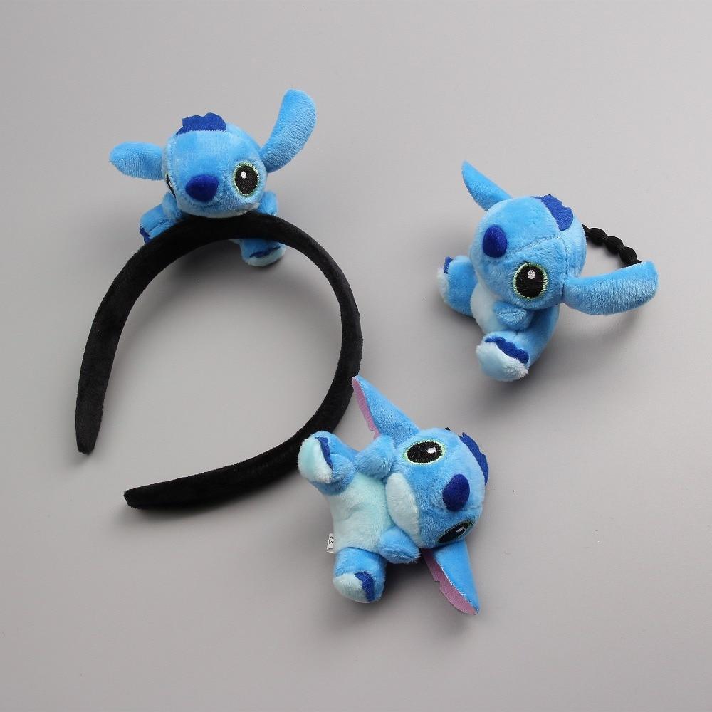 1 PCS  Three-Dimensional Short Plush Stitch Hairpins Children Headdress Girls Hair Clips Headwear Baby Hair Accessories