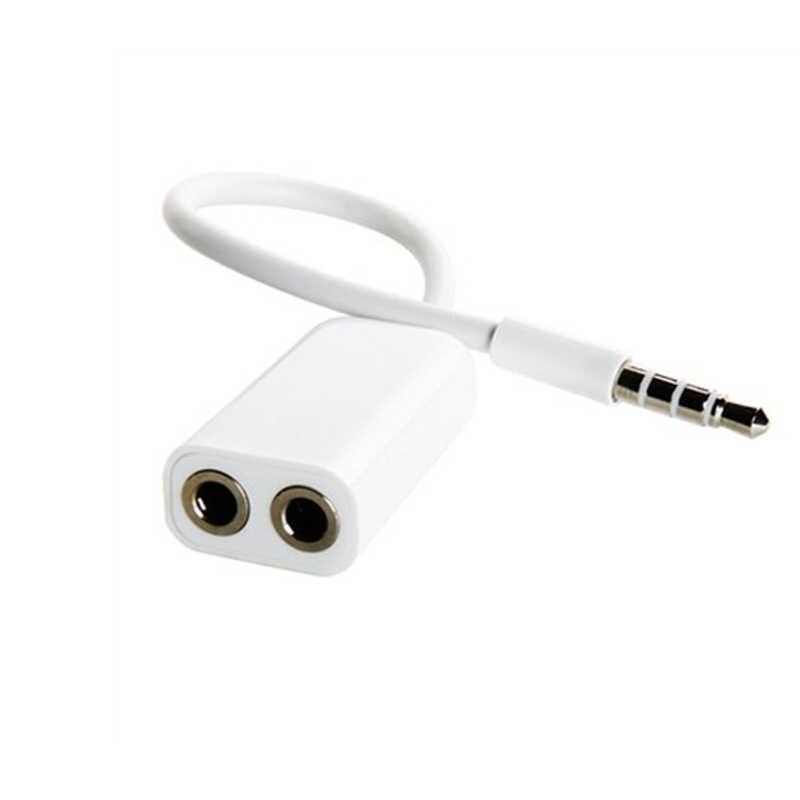 1 macho a 2 hembra 3,5 Jack Cable de Audio Aux. Del divisor de auriculares para Apple iPhone 4 5 5s 7 plus 6 6S plus, iPad, iPod portátil MP3 altavoz