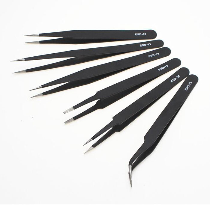 1PCS Different Size  ESD-10 ESD-11 ESD-12 ESD-13 ESD-14 ESD-15 Tweezers Tweezer