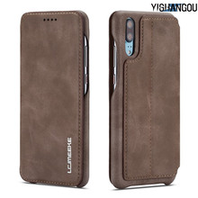 Real Genuine Leather Flip Wallet Case For Huawei P20 Pro P20Lite NOVA3E Card Holder Stand Cover For iPhone X XS XR 6 6S 7 8 Plus