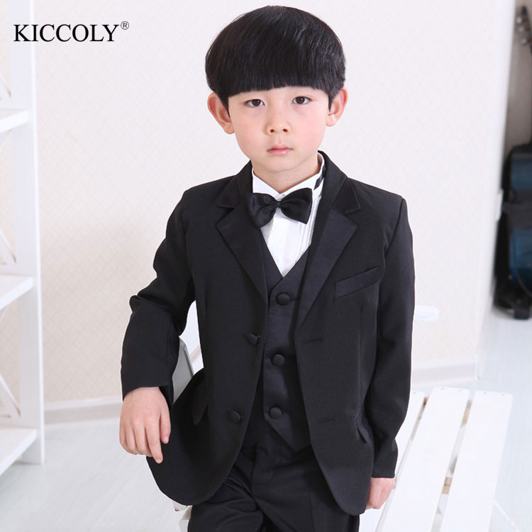 Children Suit Baby Boys Suits for Weddings Kids Blazer Boys Formal Prom Suit Boys Clothes 3 pieces Big Children Classic Costume цена