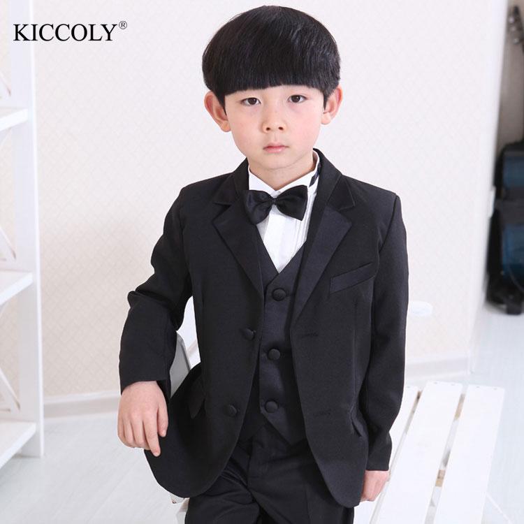Children Suit Baby Boys Suits for Weddings Kids Blazer Boys Formal Prom Suit Boys Clothes 3 pieces Big Children Classic Costume