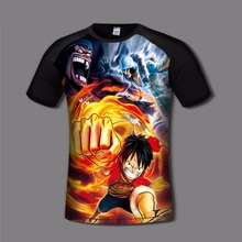 One Piece Luffy Men's Print T shirt Comfortable Ace Anime Print flexible tshirts Casual gamer Clothing Breathable fashion shirt