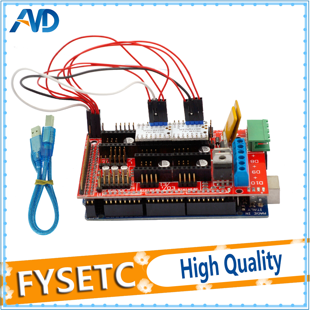 Excellente Mega 2560 R3 Mega2560 REV3 + RAMPES 1.4 Contrôleur + 2 pcs TMC2130 V1.1 SPI Fonction Pour 3D Imprimante Arduino Kit