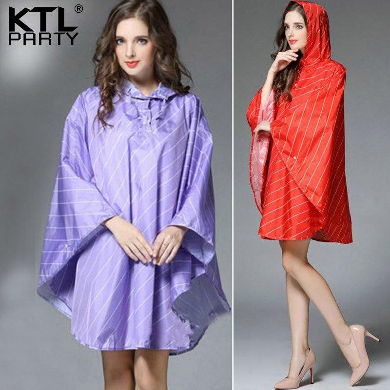 KTLPARTY Womens windbreaker travel raincoat female waterproof rain jacket  lady rainwear rain suit poncho Light breathable cover ef629f276d