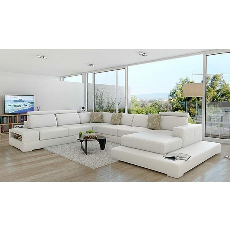 Cheap Home White Living Room Furniture Sofa Set