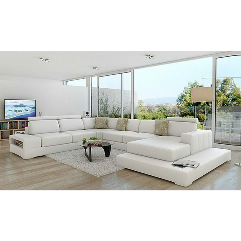 Cheap Home White Living Room Furniture Sofa Set-in Living