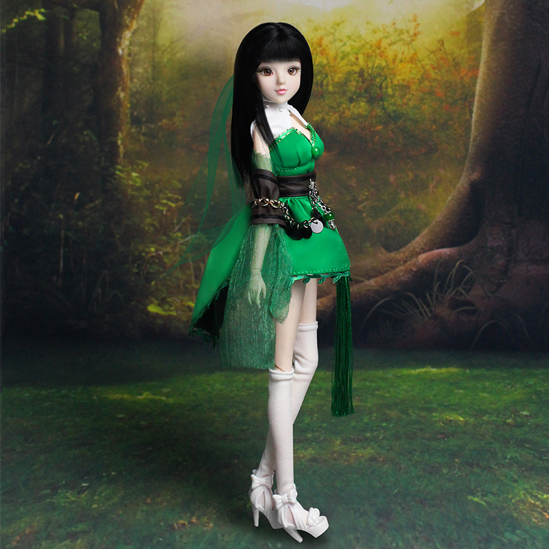 MMG Girl Dream Fairy BJD doll 12 constellations Sagittarius with green outfit shoes stand necklace arrow 14 joint body toy gift-in Dolls from Toys & Hobbies    1