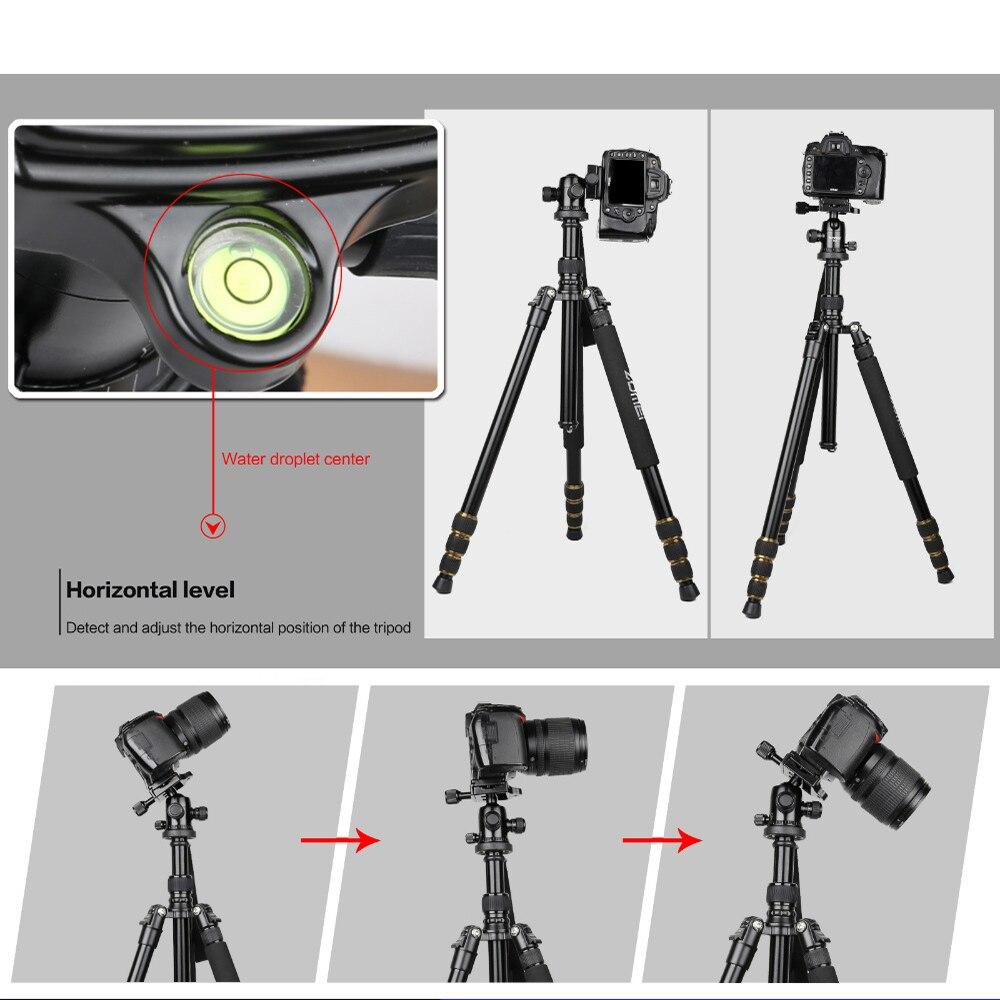 Zomei Z688 profesional de viaje fotográfico compacto de aluminio pesado trípode estable Monopod cabeza de bola para cámara Digital DSLR - 5