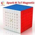 Mofangge X-hombre diseño SparkM 7x7 magnético cubo Qiyi chispa M 7x7x7 velocidad cubos de WCA rompecabezas cubo mágico rompecabezas juguetes para los niños