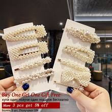 2019 Handmade Pearl Hair Clip Set For Girls Hair Metal Barrette Stick Hairpin Korea Hot Fashion Minimalist Dainty New Arrival(China)