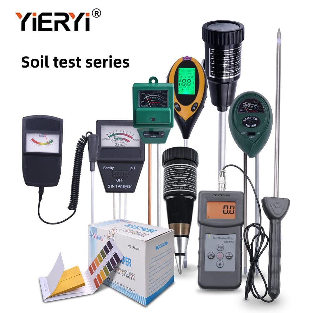 Yieryi New Soil Ph Meter All Size Sunlight/Moisture/Light/PH Moisture Light Fertility Tester Wet And Dry