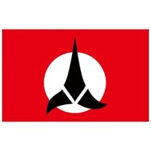 Free Shipping  xvggdg   flag 3x5ft Klingon Empire Flag Banner vents Decorative Flag 90x150cm 100D polyester огромный российский флаг 3x5ft 90x150cm из россии