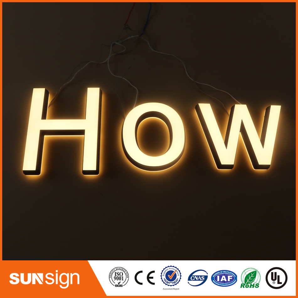 Aliexpress Factory Outlet Outdoor Advertising Acrylic Illuminated Signboard,double Lit Letter Signs