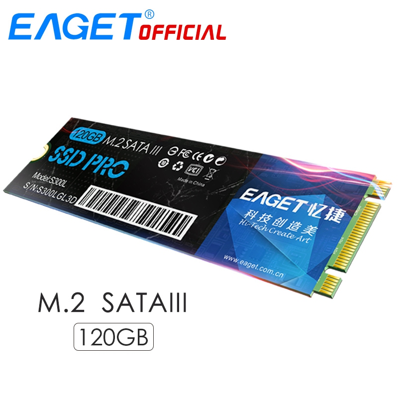 EAGET M.2 SSD SATA 120GB NGFF 2280 Internal Solid State Drives Flash Memory HD SSD Disk HDD Shockproof For Ultrabook Laptop eaget ssd 2 5 inch internal hard drive solid state disk sata to usb3 0 hd hdd 120gb high speed flash memory for mac for laptop