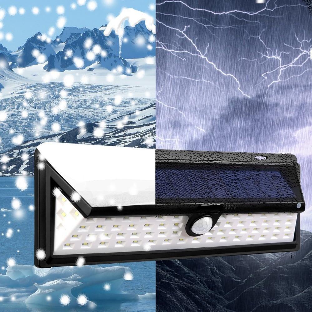Бесплатная Доставка 10 шт./лот Новый 66 светодиодный водонепроницаемый солнечные лампы Белый PIR датчик движения светодиодный солнечного свет...