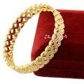 10mm Width 57mm Top Beauty Womens Ladies  Yellow Gold Filled Open Bangles Wrist Bracelets