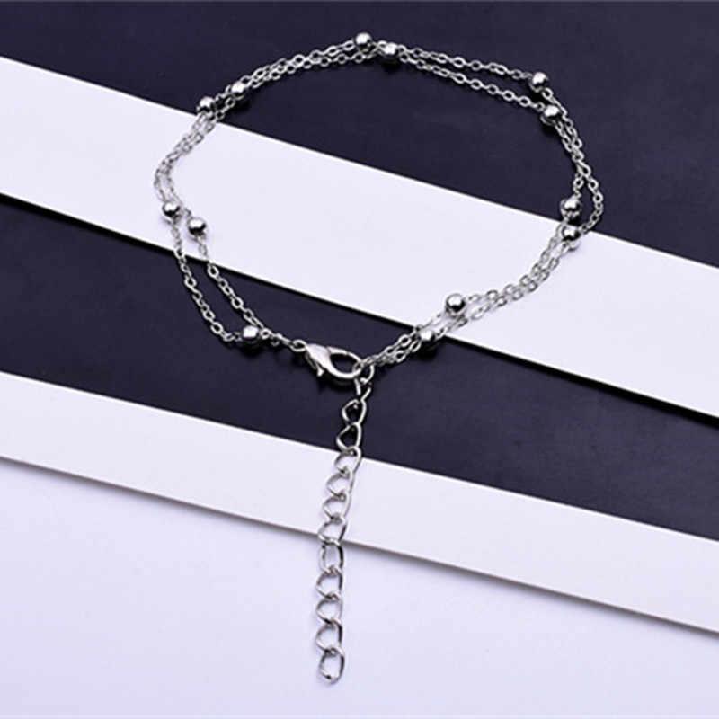 Luxo ouro/prata cor corrente link pulseira para senhoras ol estilo cobre contas pulseira jóias por atacado barato