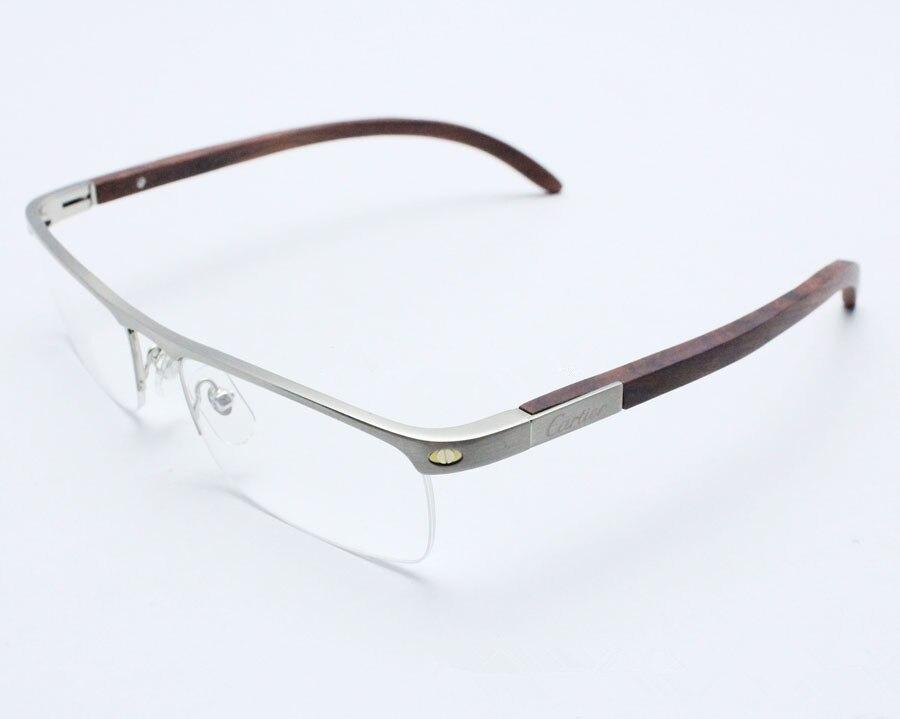 Fashion prescription glasses titanium & wood eyeglasses frames ...
