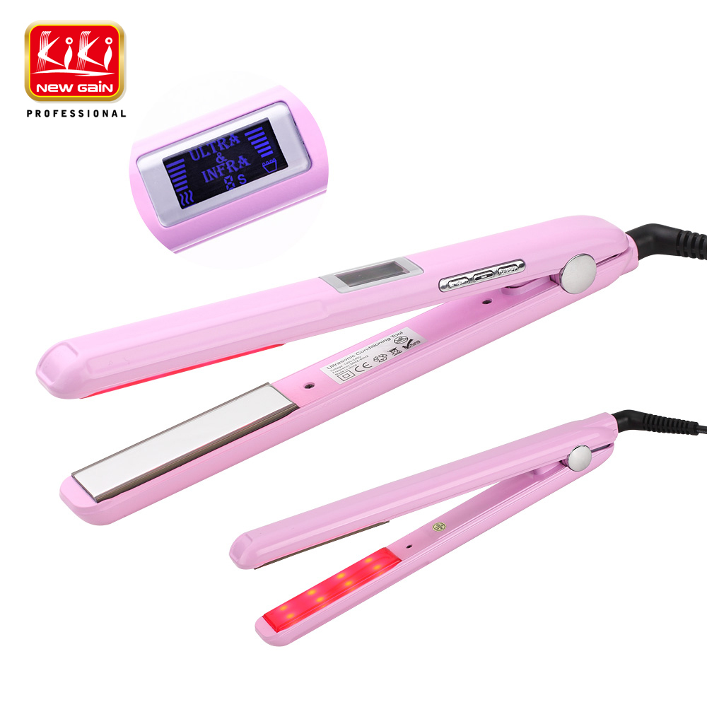 KIKI NEWGAIN LCD display Ultrasonic & Infrared Hair Care Iron Recovers the damaged hair Styler Cold Iron Hair Care Treatment