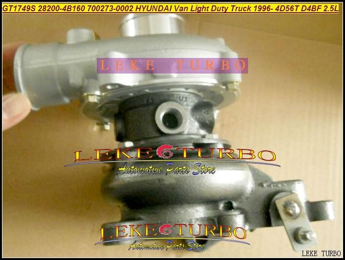 Free Ship GT1749S 700273 700273-0002 28200-4B160 Turbo Turbocharger For HYUNDAI Light Duty Truck H100 H200 1996- 4D56T D4BF 2.5L free ship turbo rhf5 8973737771 897373 7771 turbo turbine turbocharger for isuzu d max d max h warner 4ja1t 4ja1 t 4ja1 t engine