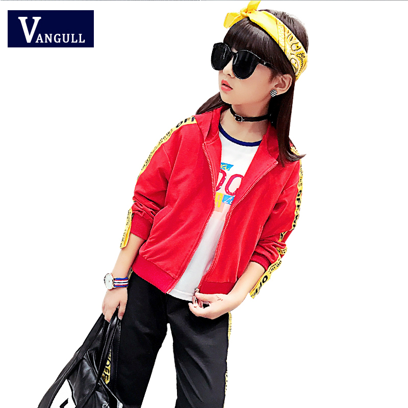 2017 children are autumn sports suit hot ribbon Hooded Sweater + pants zipper 3-11 two piece girl free shipping children clothing spring autumn girl fashion sports set hooded sweater pants girl suit