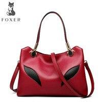 FOXER brand leather handbags Large capacity handbag 2018 New Europe and America Shoulder Messenger Bag Killer package