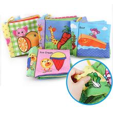 Nowa ściereczka dla niemowląt książka kolory zwierząt kształt zabawki edukacyjne rozwijające inteligencję rozwój zabawka dla 0-12 miesięcy niemowlęta tanie tanio 3 lat cloth book 12*11 5*2 7cm Baby Cloth Book Baby Quiet Books Rustle Sound Infant Quiet Books Rustle Sound Infant Cloth Books