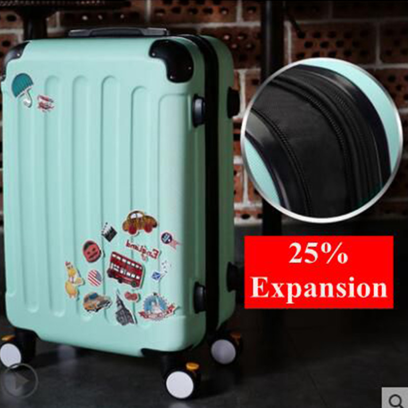 Brand 20 22 24 26 Inch Rolling Luggage Suitcase Boarding Case Travel Luggage Case Spinner Cases Trolley Suitcase Wheeled Case