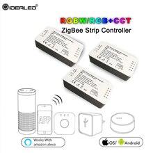 RGB RGBW CCT полосы контроллер ZIGBEE работать с Amazon Echo Alexa Osram шлюз Zigbee свет ссылка оттенок Smart контроллер