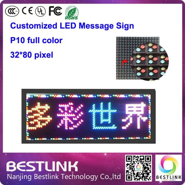 32 * 80 pixel levou placa do sinal mensagem táxi top levou p10 ao ar livre levou exibição do quadro de avisos de publicidade tela led sinal texto em movimento