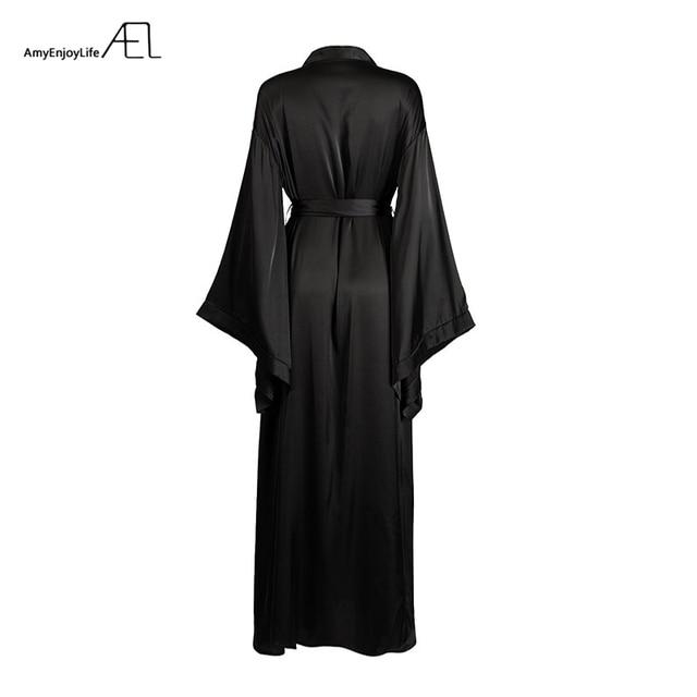AEL Fashion Loose Soft Comfortable Night Robe Women Belt Bathrobe Women's Sleep Sexy Sleepwear Shift 2017 Select 3 Color 6