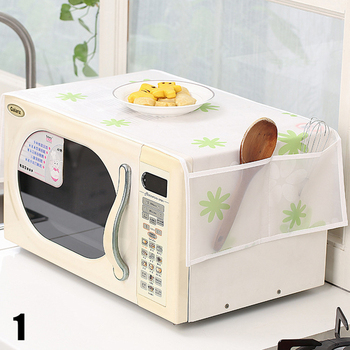 Microwave Oven Dust Cover Plastic Flower Waterproof 1