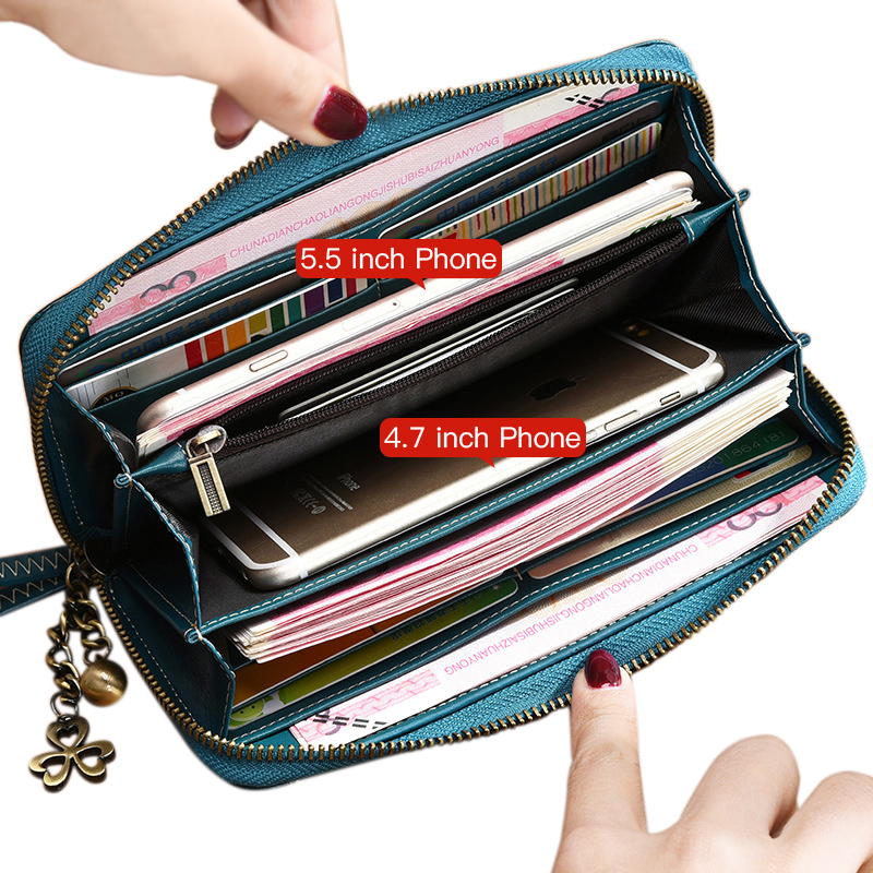 Hot Sale Split Leather Wallet Brand Wallet Female Vintage Wallet Women 2017 New Purse Long Coin Purse Women Purse For iPhone7S