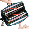 Sendefn Large Capacity Genuine Leather Women Wallets Long Lady Purse Female Card Holder Phone Coin Pocket