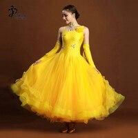 Ballroom competition dance dress/ Modern Waltz Tango Ballroom Dance Dress/ Women Standard Ballroom Dress