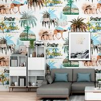 Southeast Asian Wallpaper Camel Desert Tropical Rainforest Bedroom Nordic TV Background Wall Papel Tapiz Para Pared