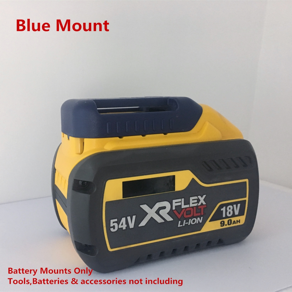 5Pcs Blue Battery Mounts Holders for Dewalt 18v 20v 54v 60v Power Tool Battery