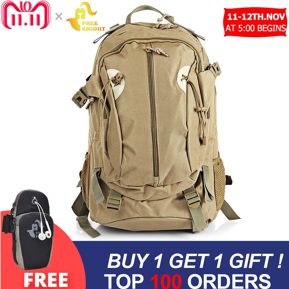 Free Knight 30L Outdoor Military Bag Rucksack Backpack For Camping Trekking Hiking Military Backpack Men Women Backpack 80l outdoor backpack large capacity camping camouflage military rucksack men women hiking backpack army tactical bag