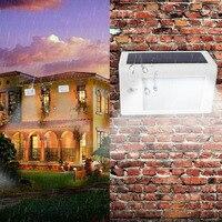 Icoco 20 led استشعار الحركة الشمسية ضوء سطوع عالية توفير الجدار مصباح للماء ضوء الشرفة للخارجية حديقة يارد