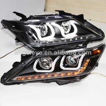 For TOYOTA Camry Aurion LED U Style Angel eyes Head Lamp Lights 2012-2013 year LDV1