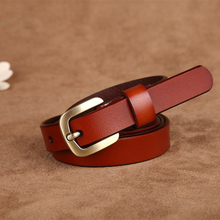 Simple Thin Genuine Leather Belts For Women
