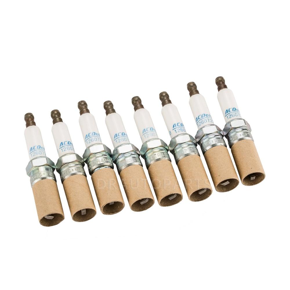 Acdelco Iridium Spark Plug 8pcs 41-101 For Buick Regal Lacrosse Century Chevrolet Camaro Malibu Blazer Pontiac OE#12568387