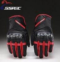 SSPEC Essential Motorcycle Gloves Retro Leather Motorbike Guantes Moto Luvas Protective Gears Motocross Glove Men Racing
