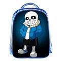 Undertale Blue School Bags for Children Cartoon Game 13inch 3D Prints Boys Girls Kids School Bag Bookbag