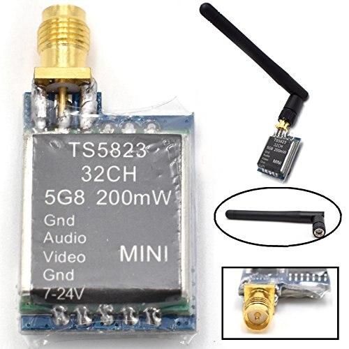 TS5823 Mini FPV Tx sólo 7,3G 5,8 GHz 48Ch 200 MW transmisor AV para (TX) TS5823/RP-SMA