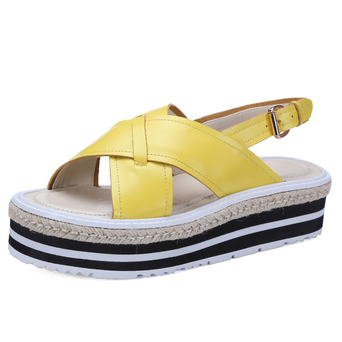 ФОТО New Arrival 2017 Fashion summer 4 Colors Women's Wedges Rome shoes Platform ladies vintage casual sandals for women
